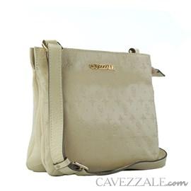 Bolsa Tiracolo de Couro Feminina Cavezzale Monograma Vanilla 102567