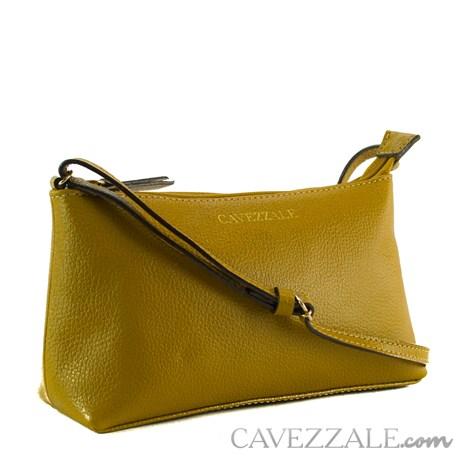 Bolsa Tiracolo de Couro Feminina Cavezzale Mostarda 0100972