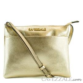 Bolsa Tiracolo de Couro Feminina Cavezzale Ouro Light 0100970