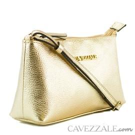 Bolsa Tiracolo de Couro Feminina Cavezzale Ouro Light 0100972