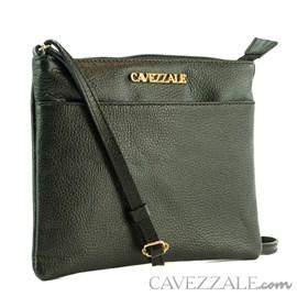 Bolsa Tiracolo de Couro Feminina Cavezzale Preto 0100970