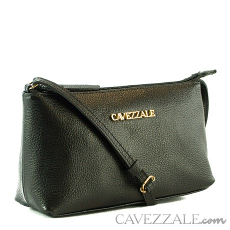 Bolsa Tiracolo de Couro Feminina Cavezzale Preto 0100972