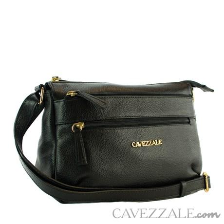 Bolsa Tiracolo de Couro Feminina Cavezzale Preto 0101770