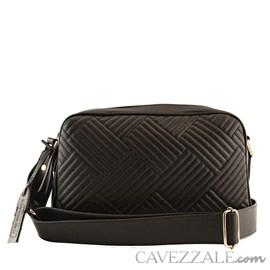 Bolsa Tiracolo de Couro Feminina Cavezzale Preto 101985