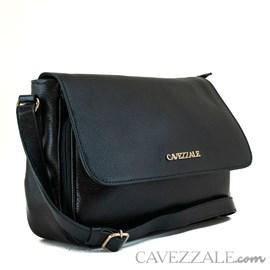 Bolsa Tiracolo de Couro Feminina Cavezzale Preto 99606