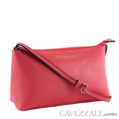 Bolsa Tiracolo de Couro Feminina Cavezzale Rosa 0100972