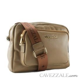Bolsa Tiracolo de Couro Feminina Cavezzale Soft Camel 102367