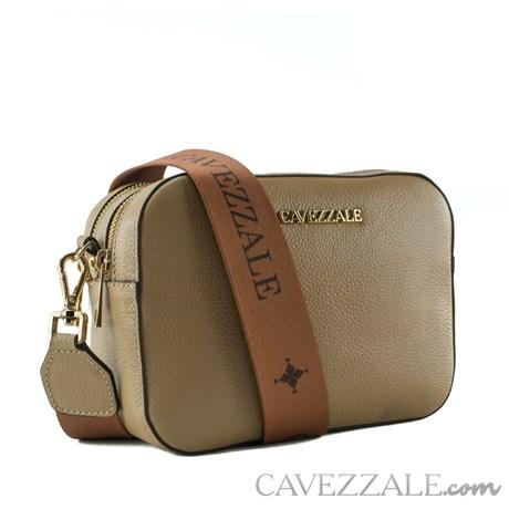 Bolsa Tiracolo de Couro Feminina Cavezzale Soft Camel 102577