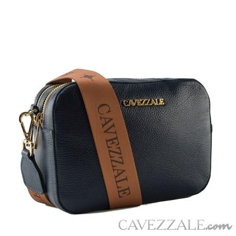 Bolsa Tiracolo de Couro Feminina Cavezzale Soft Marinho 102577