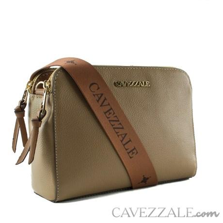 Bolsa Tiracolo de Couro Feminina Cavezzale Soft/Napa Camel 102369