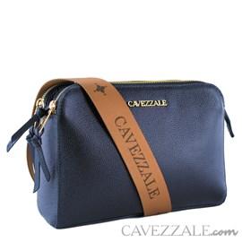 Bolsa Tiracolo de Couro Feminina Cavezzale Soft/Napa Marinho 102369