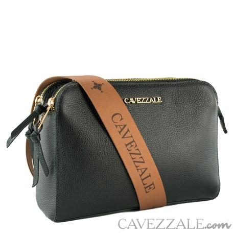 Bolsa Tiracolo de Couro Feminina Cavezzale Soft/Napa Preto 102369