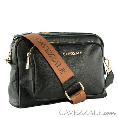 Bolsa Tiracolo de Couro Feminina Cavezzale Soft Preto 102367
