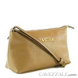 Bolsa Tiracolo de Couro Feminina Cavezzale Taupe 0100972
