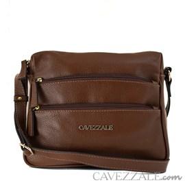 Bolsa Tiracolo de Couro Feminina Cavezzale Whisky 099607