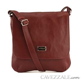 Bolsa Tiracolo Feminina Couro Cavezzale Vermelho 018169