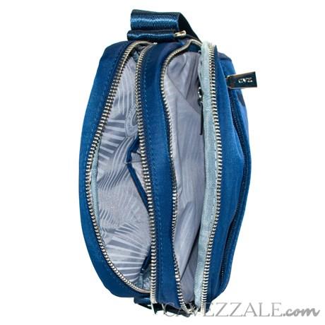 Bolsa Tiracolo Feminina de Nylon Cavezzale Azul 101297