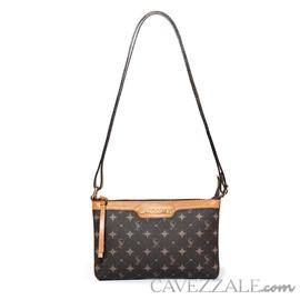 Bolsa Tiracolo Feminina Personnalite Cavezzale Monograma Chocolate/caramelo 102744