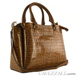 Bolsa Tote Bag de Couro Feminina Cavezzale Amazon Havana 102003