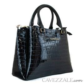 Bolsa Tote Bag de Couro Feminina Cavezzale Amazon Preto 102003