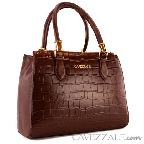 Bolsa Tote Bag de Couro Feminina Cavezzale Castor 101620