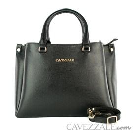 Bolsa Tote Bag de Couro Feminina Cavezzale CVZ Floter Preto 102353