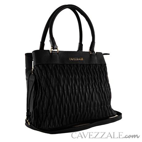 Bolsa Tote Bag de Couro Feminina Cavezzale Floter Preto 102001