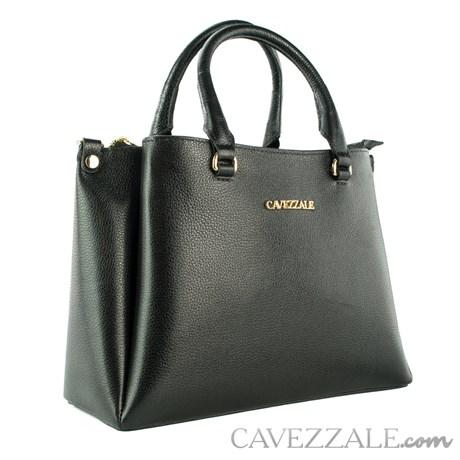 Bolsa Tote Bag de Couro Feminina Cavezzale Floter Preto 102353