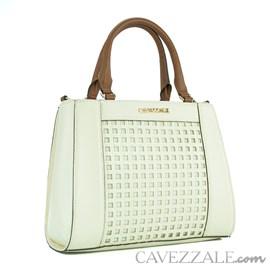 Bolsa Tote Bag de Couro Feminina Cavezzale Floter Trama Pannacota 102629