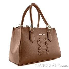 Bolsa Tote Bag de Couro Feminina Cavezzale Linhaça 101982