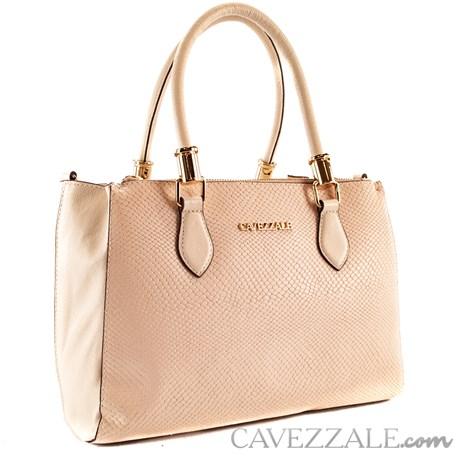Bolsa Tote Bag de Couro Feminina Cavezzale Marfim 101620