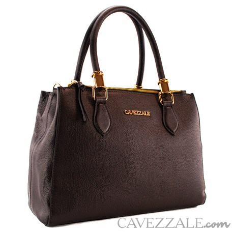 Bolsa Tote Bag de Couro Feminina Cavezzale Preto 101620