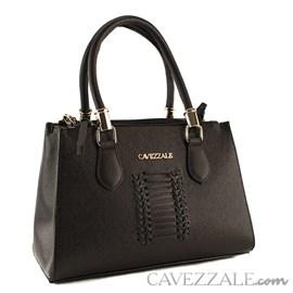 Bolsa Tote Bag de Couro Feminina Cavezzale Preto 101982