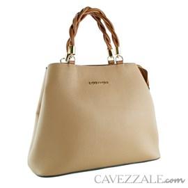 Bolsa Tote Bag de Couro Feminina Cavezzale Soft Palha 102373