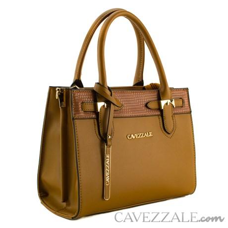 Bolsa Tote Bag Feminina Cavezzale Marrom 101322