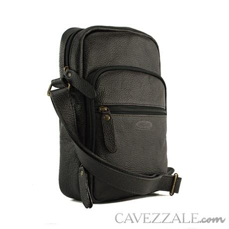 Bolsa Transversal Couro Cavezzale Preto 053044