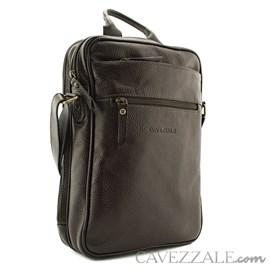 Bolsa Transversal de Couro Masculina Cavezzale Café 053043