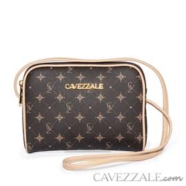 Bolsa Transversal Feminina Personnalite Cavezzale Monograma Chocolate/bege 102746
