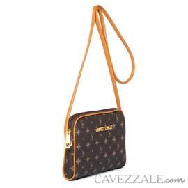 Bolsa Transversal Personnalite Cavezzale Monograma Chocolate/caramelo 102746