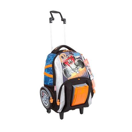 Carrinho Escolar Hot Wheels 17z Preto-azul Grande Poliéster 097499