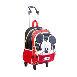Carrinho Escolar Mickey Mouse 17y Médio Preto-vermelho Poliéster 097508