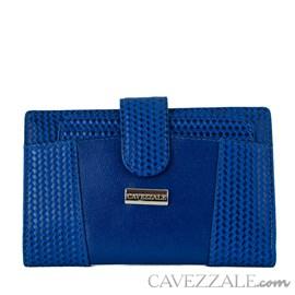 Carteira de Couro Feminina Cavezzale Azul 100497