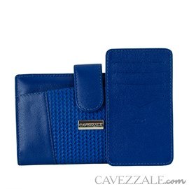 Carteira de Couro Feminina Cavezzale Azul 101711