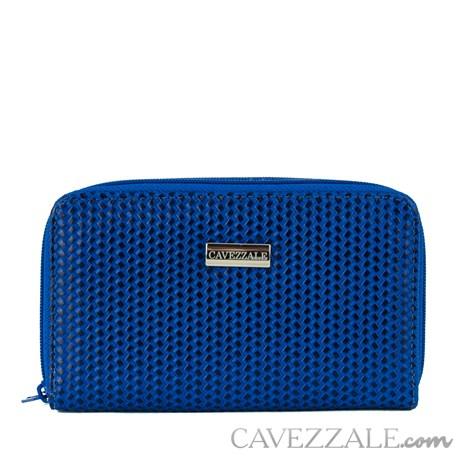 Carteira de Couro Feminina Grande Cavezzale Azul 101710