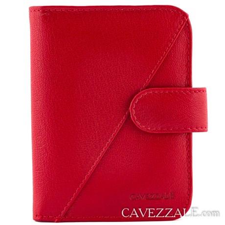 Carteira De Couro Feminina Grande Cavezzale Vermelho 099033