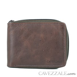 Carteira De Couro Masculina Grande Cavezzale Café 056133