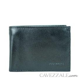 CARTEIRA DE COURO MASCULINA GRANDE CAVEZZALE PRETO 015684