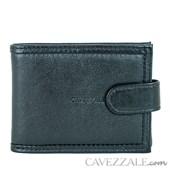 CARTEIRA DE COURO MASCULINA GRANDE CAVEZZALE PRETO  050039