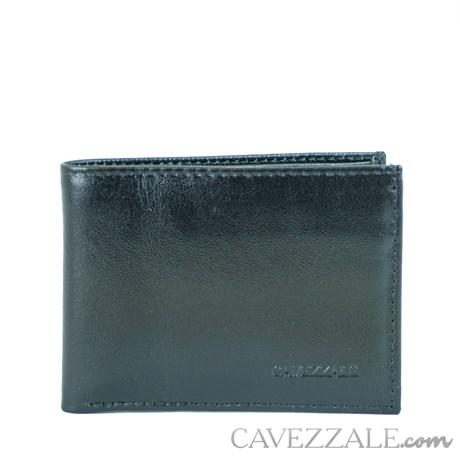 CARTEIRA DE COURO MASCULINA GRANDE CAVEZZALE PRETO 055884