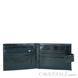 CARTEIRA DE COURO MASCULINA GRANDE CAVEZZALE PRETO 056137